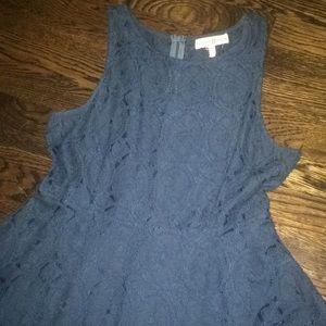 NWOT navy lace dress